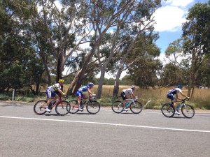 The lead group Stage 4 Tour Down Under 2015 - Myponga