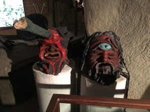 Masks used in performances at the Greek Theatre early 20th Century